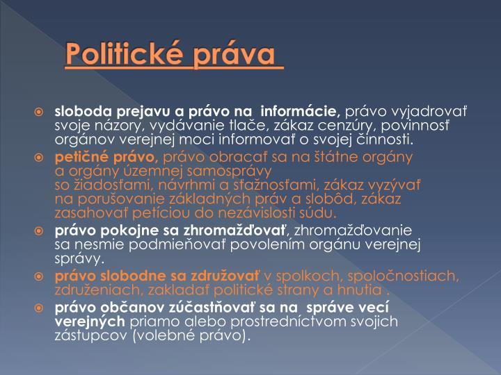 Politické práva