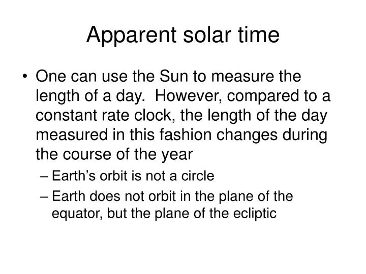 Apparent solar time