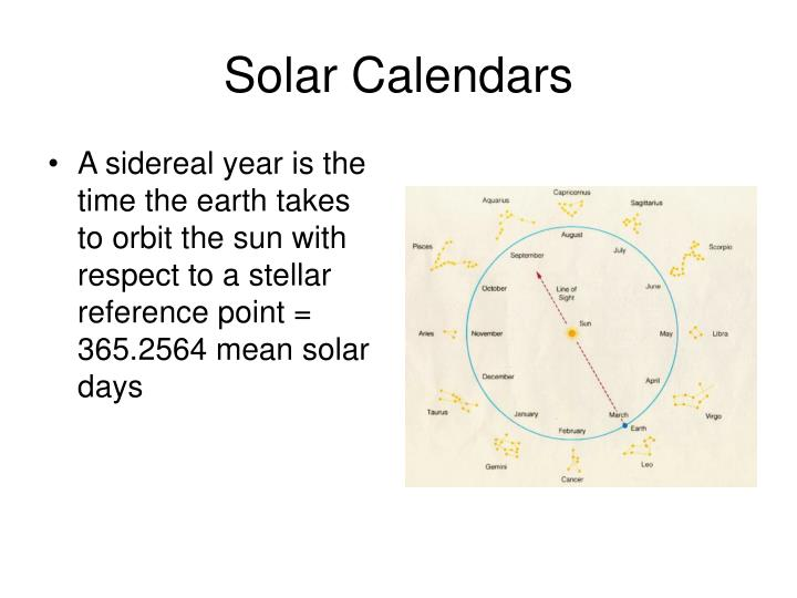 Solar Calendars