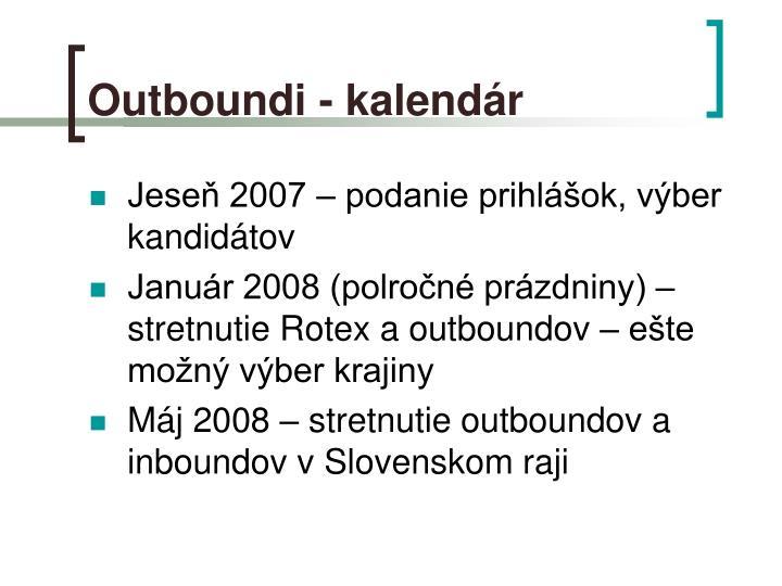 Outboundi - kalendár
