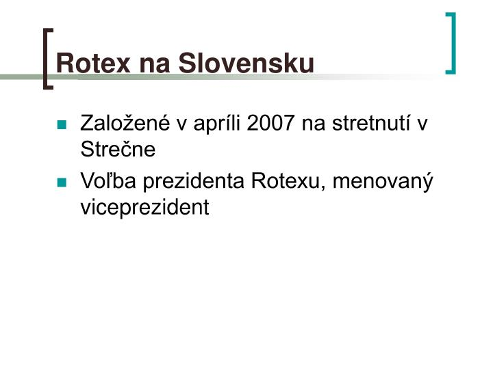 Rotex na Slovensku