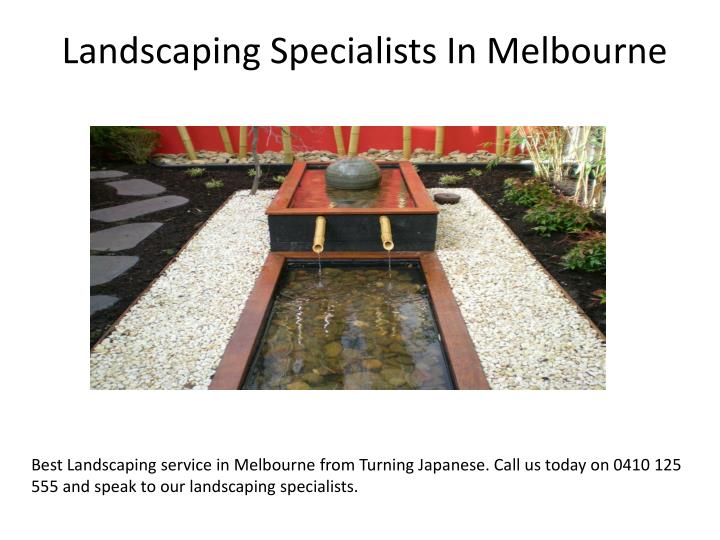 Landscaping specialists in melbourne