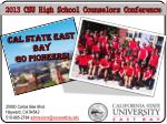 2013 csu high school counselors conference
