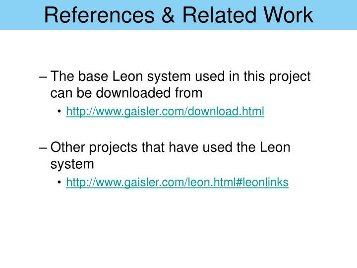References & Related Work