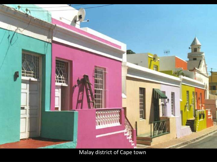 Malay district of Cape town