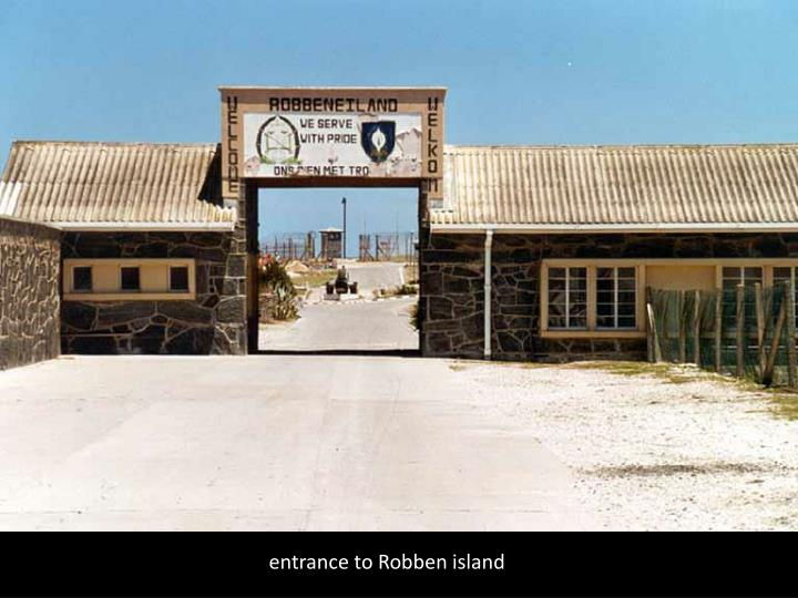 entrance to Robben island