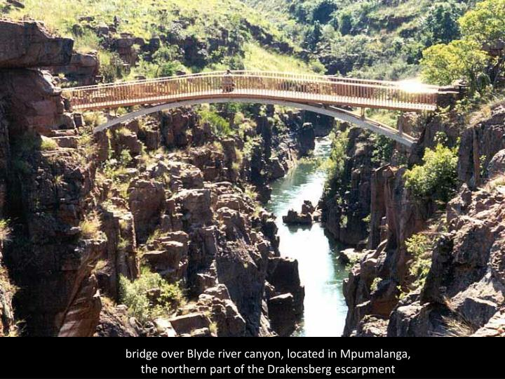bridge over Blyde river canyon, located in Mpumalanga,