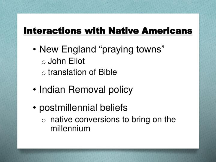 Interactions with Native Americans