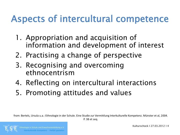 Aspects of intercultural competence