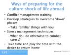 ways of preparing for the culture shock of life abroad1