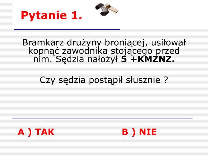 Pytanie 1.