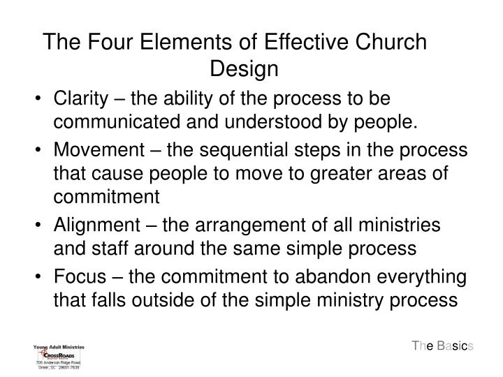The Four Elements of Effective Church Design
