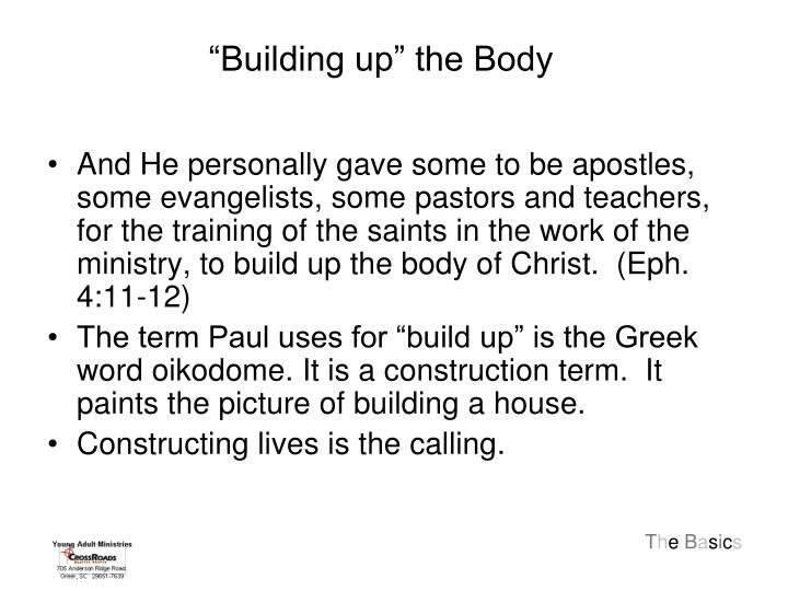 """Building up"" the Body"