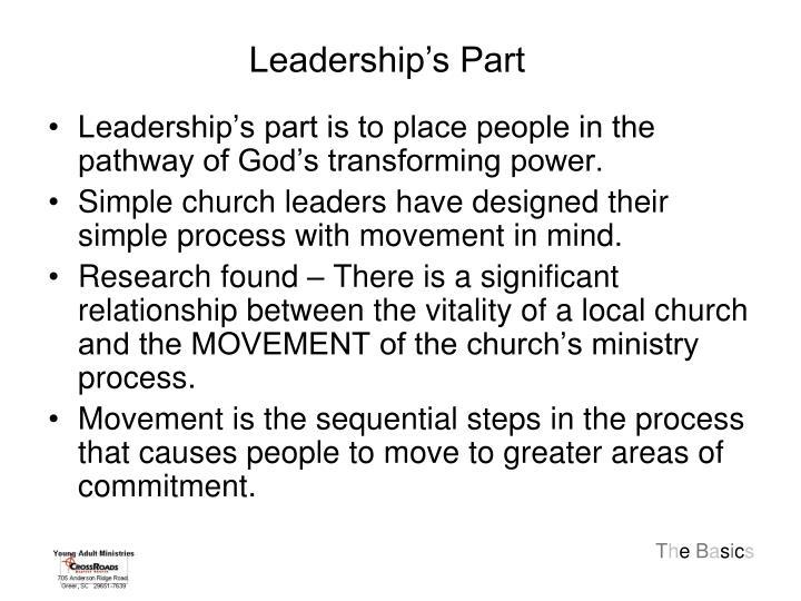 Leadership's Part