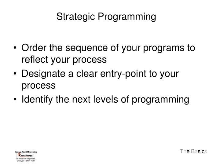 Strategic Programming