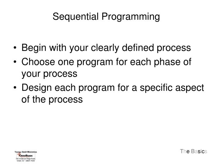 Sequential Programming