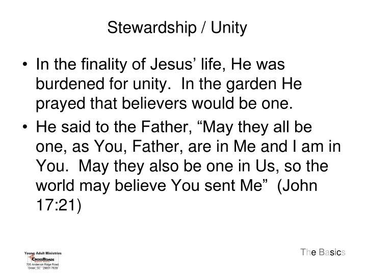 Stewardship / Unity