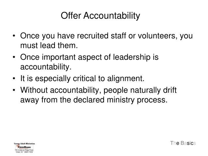 Offer Accountability