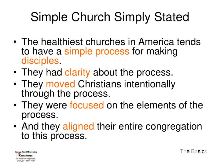 Simple Church Simply Stated