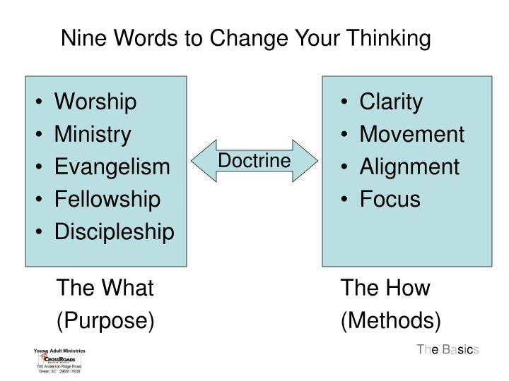 Nine Words to Change Your Thinking