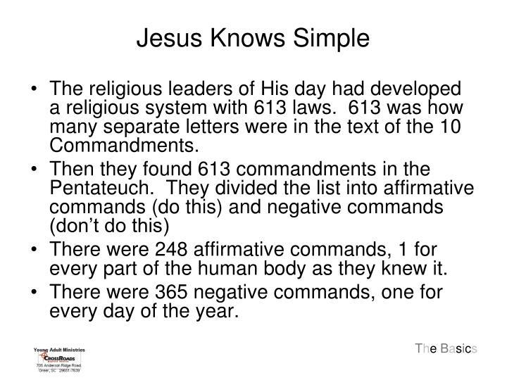 Jesus Knows Simple