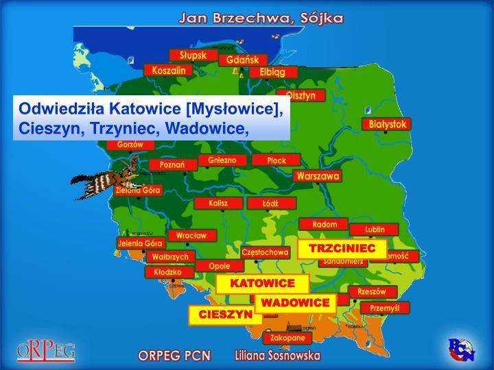 Odwiedziła Katowice [Mysłowice],