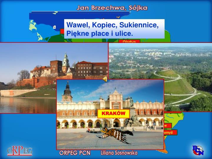 Wawel, Kopiec, Sukiennice,