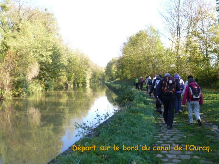 Départ sur le bord du canal de l'Ourcq.