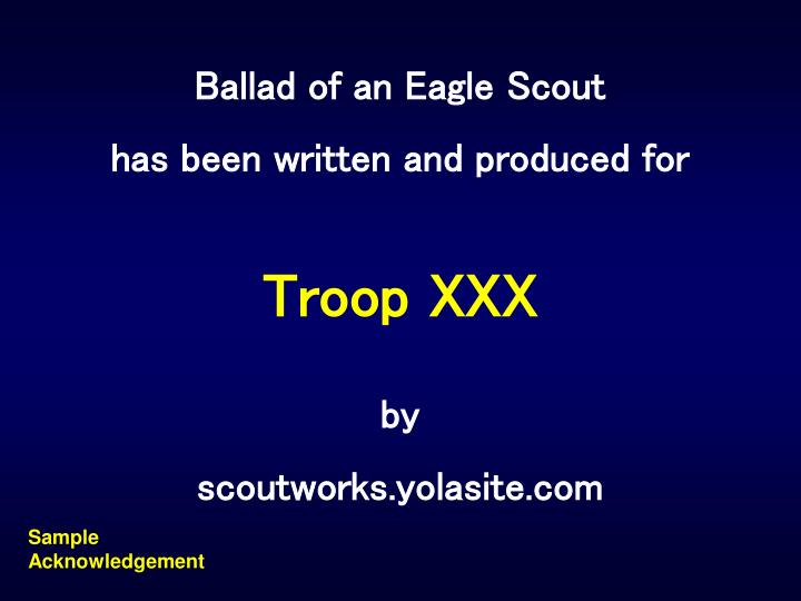 Ballad of an Eagle Scout