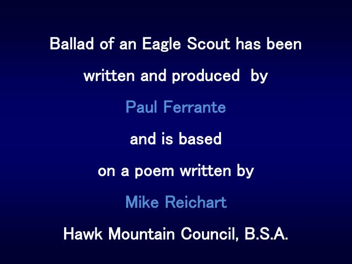 Ballad of an Eagle Scout has been