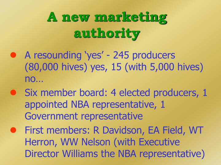 A new marketing authority