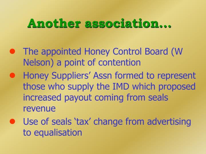 Another association...