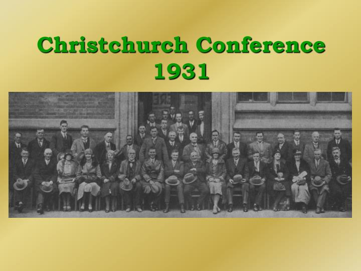 Christchurch Conference 1931