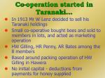 co operation started in taranaki