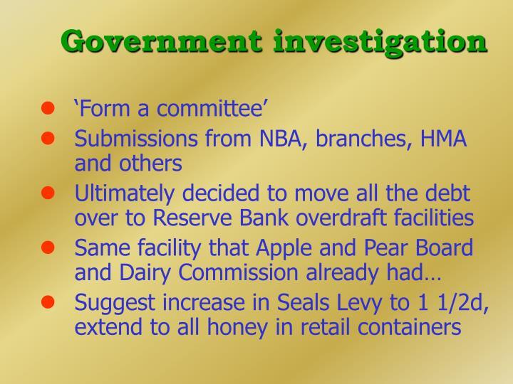 Government investigation