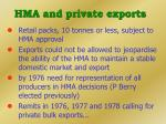 hma and private exports