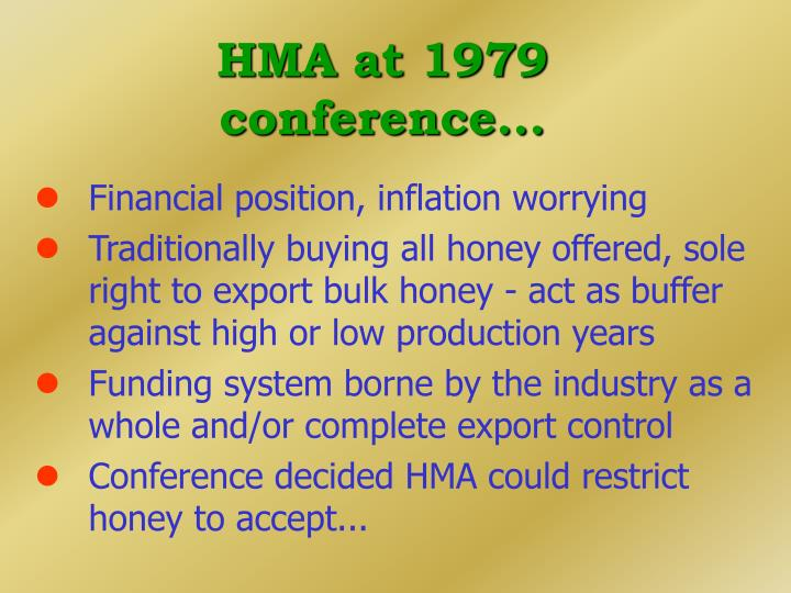 HMA at 1979 conference...