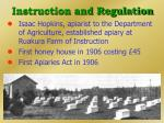 instruction and regulation