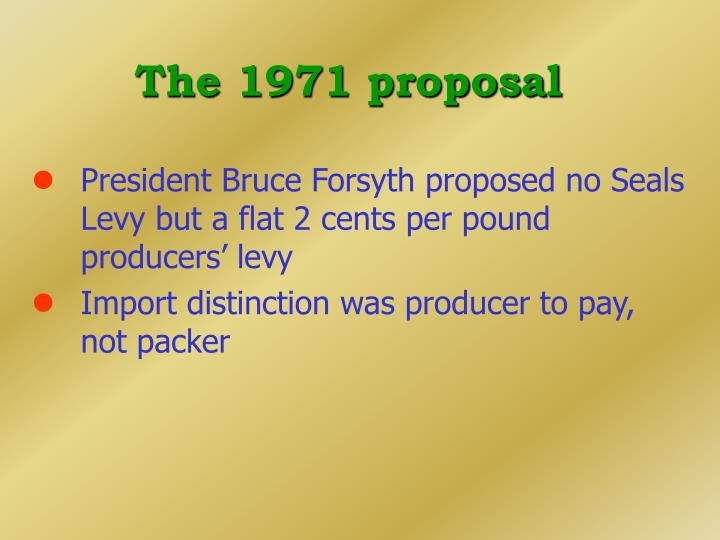 The 1971 proposal