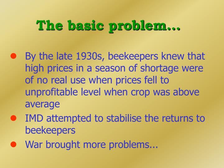 The basic problem...