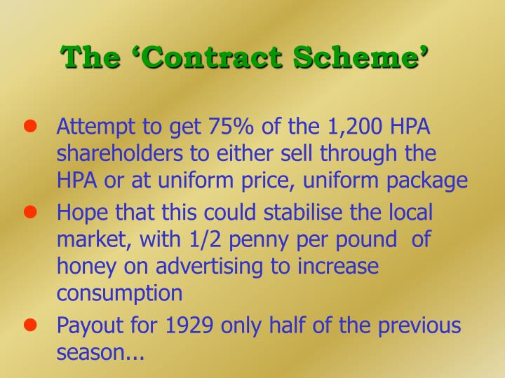 The 'Contract Scheme'