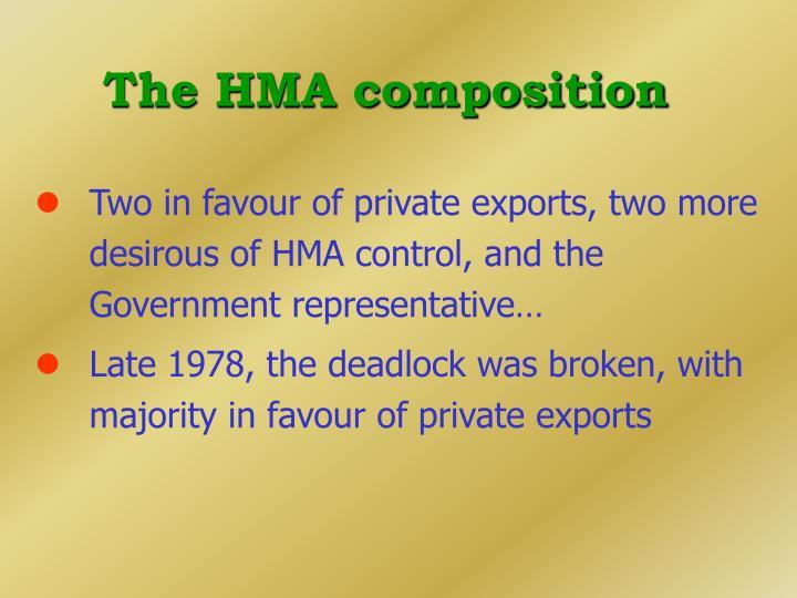 The HMA composition