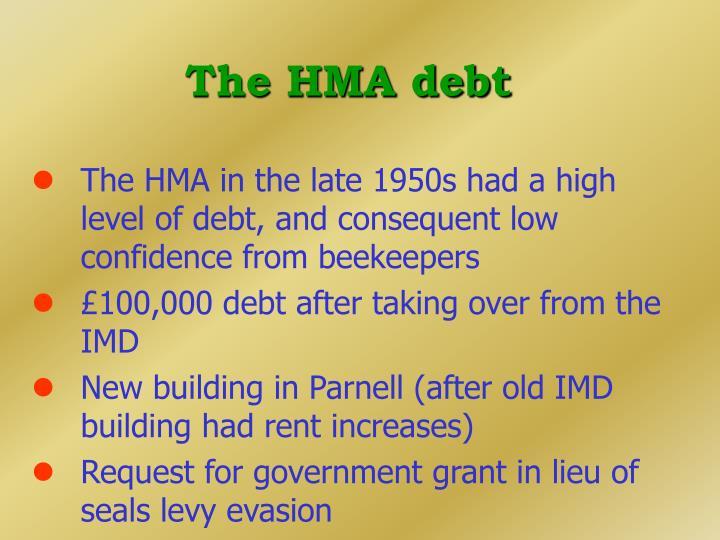 The HMA debt