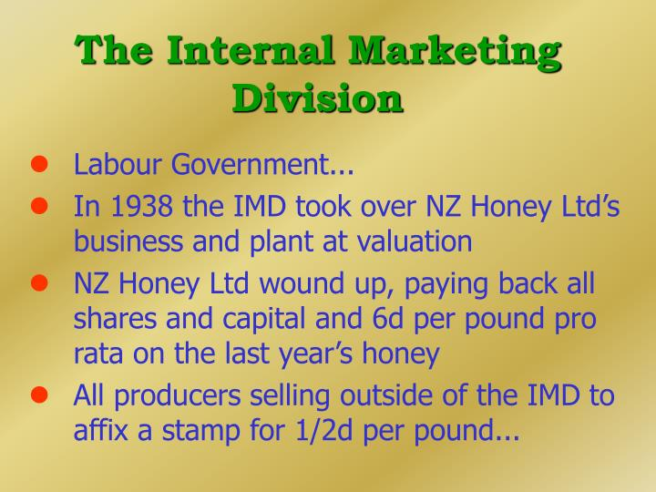 The Internal Marketing Division
