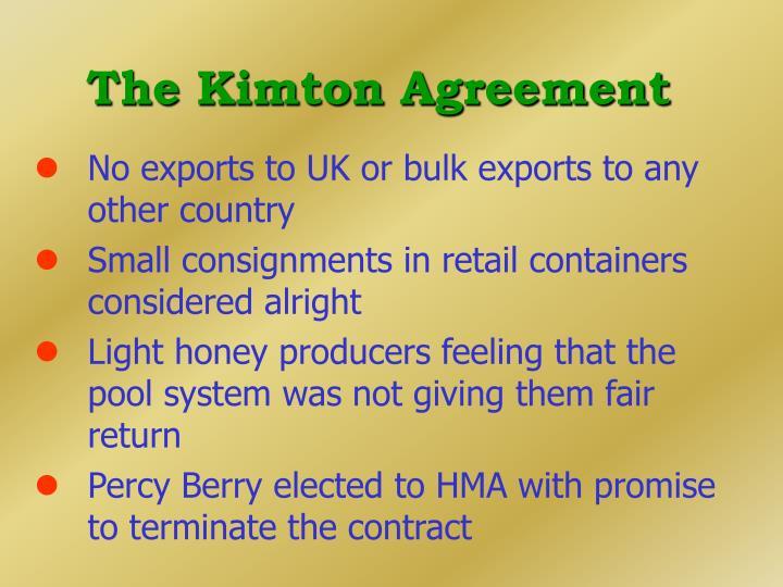 The Kimton Agreement