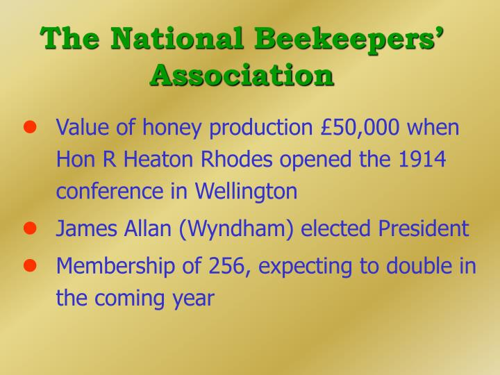 The National Beekeepers' Association