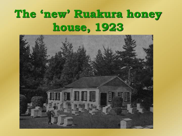 The 'new' Ruakura honey house, 1923