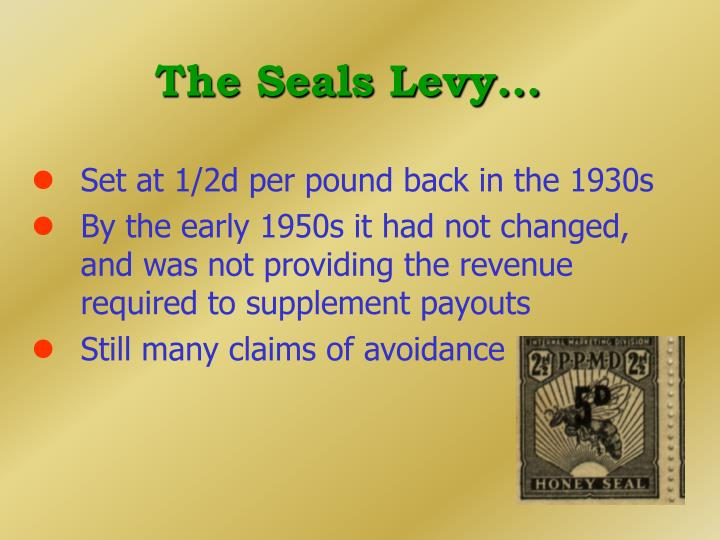 The Seals Levy...