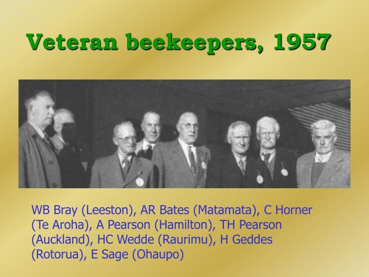 Veteran beekeepers, 1957