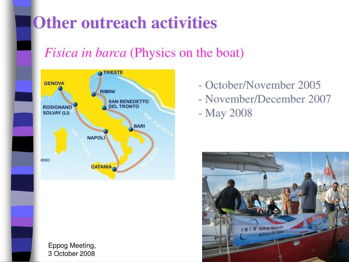 Other outreach activities